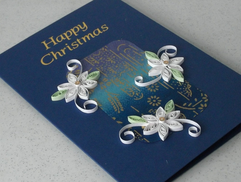 handmade christmas card quilled paper quilling