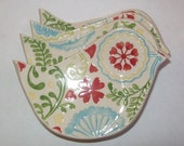 English porcelain bird dishes great for teag bags or small spoon rest set of 2