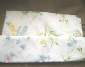 Beautiful Floral Vintage Flat Sheet Double/Full Size Cottage Chic