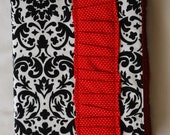 Chic Bible Cover-Black Damask and Red Polkadot Ruffle