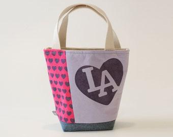 Mini Tote, I love LA Purple and Pink