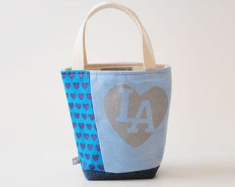 Mini Tote, I love LA Blue
