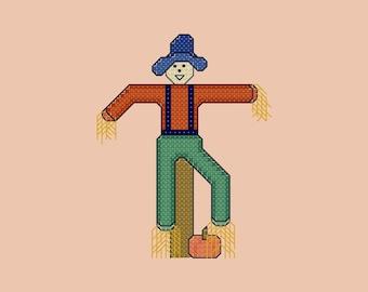 Scarecrow Cross Stitch Pattern PDF Digital Download