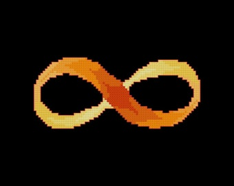 Infinity Cross Stitch Pattern PDF Digital Download