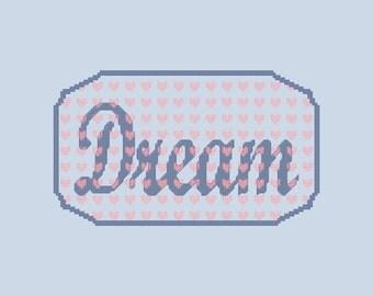Dream Cross Stitch Pattern PDF Digital Download