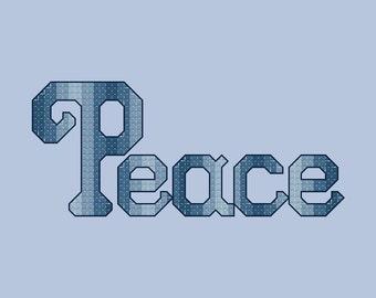 Peace Cross Stitch Pattern PDF Digital Download