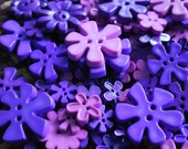Cute Flower Buttons - Assorted shape and colour - Violet Tone - 30 buttons Only 3.45 USD