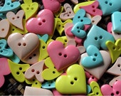 Mixed Heart Button - Candy tone - 30 buttons Only 3.45 USD