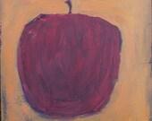 red apple on orange- limited edition print