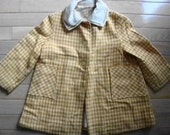 VINTAGE CHILD'S COAT  RETRO tweed size 4