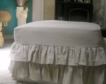 Ruffled Ottoman and Bench Cover