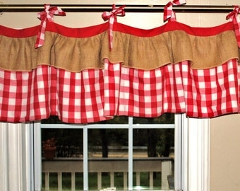 Gingham Window Valance