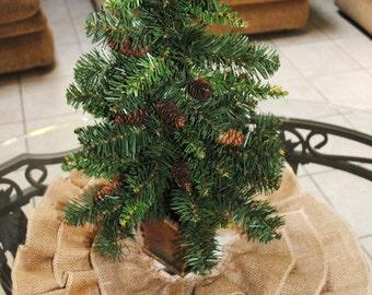 Tree Skirt in Burlap