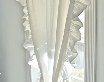 Ruffled Edge Chic Curtain