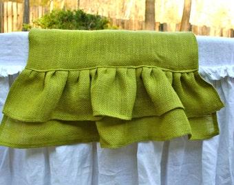 Light Green Burlap Table Runner