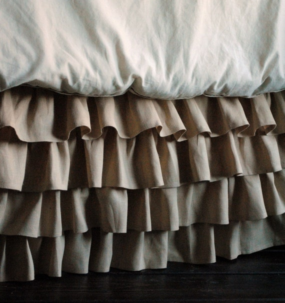 Ruffles Linen Bed Skirt Queen and King