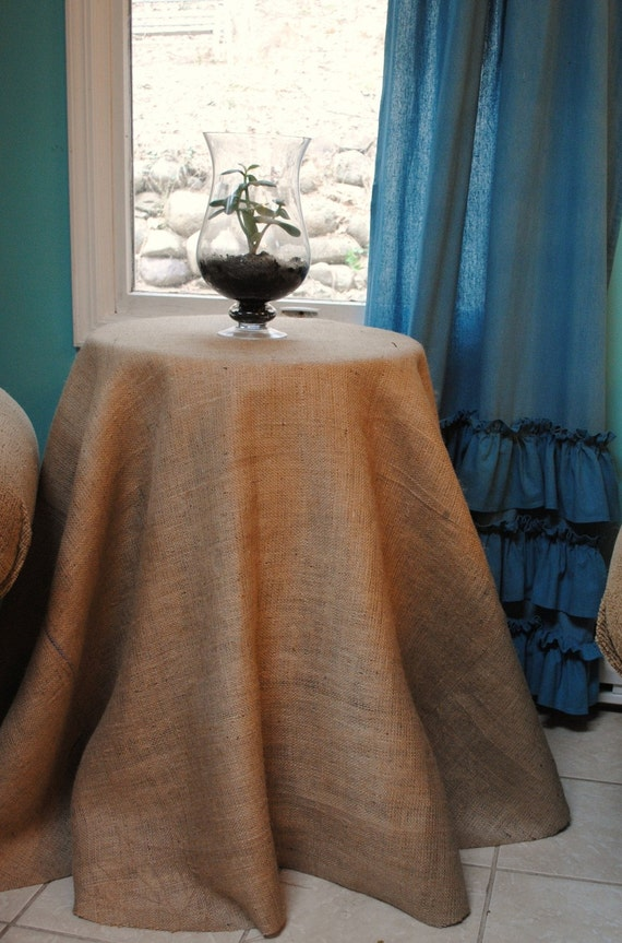 Burlap Table Cover