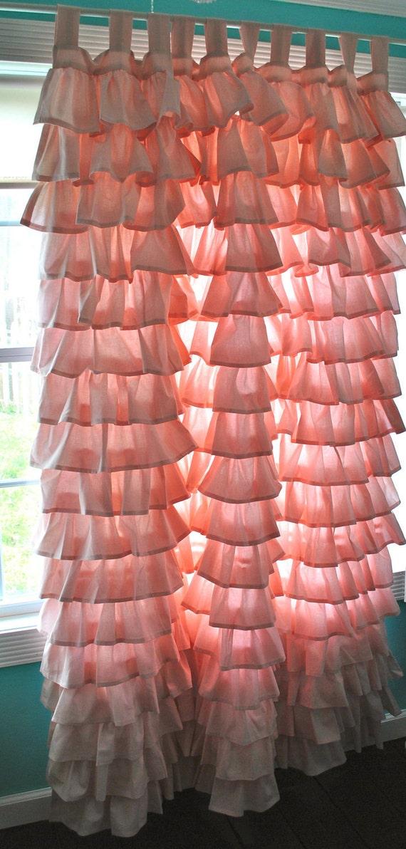 Ruffled Pink Curtain