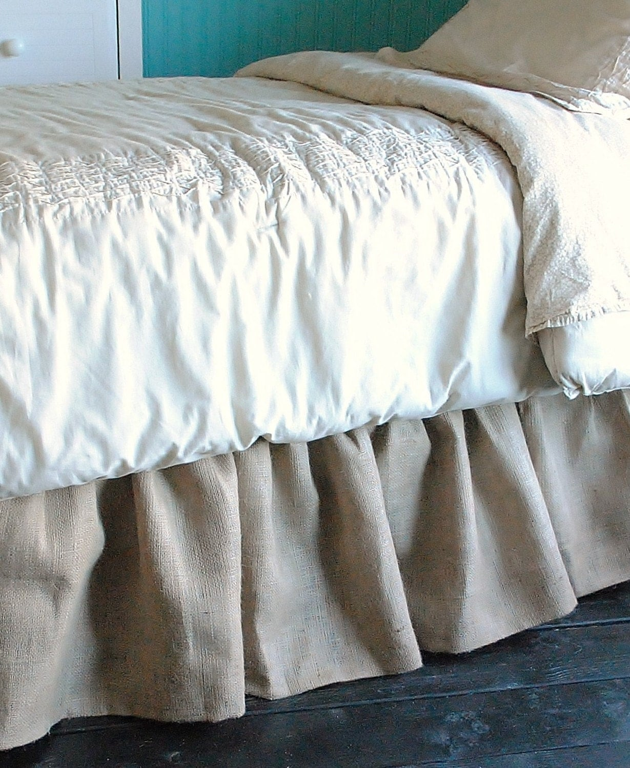 Bed Skirts Queen. Give your bed added flair with the addition of a bed skirt. We've got must-have styles in bed skirts for queen-size beds. From sleek solid colors to coordinating prints, build your bedroom sanctuary by shopping our bedding collections for this sophisticated accent.