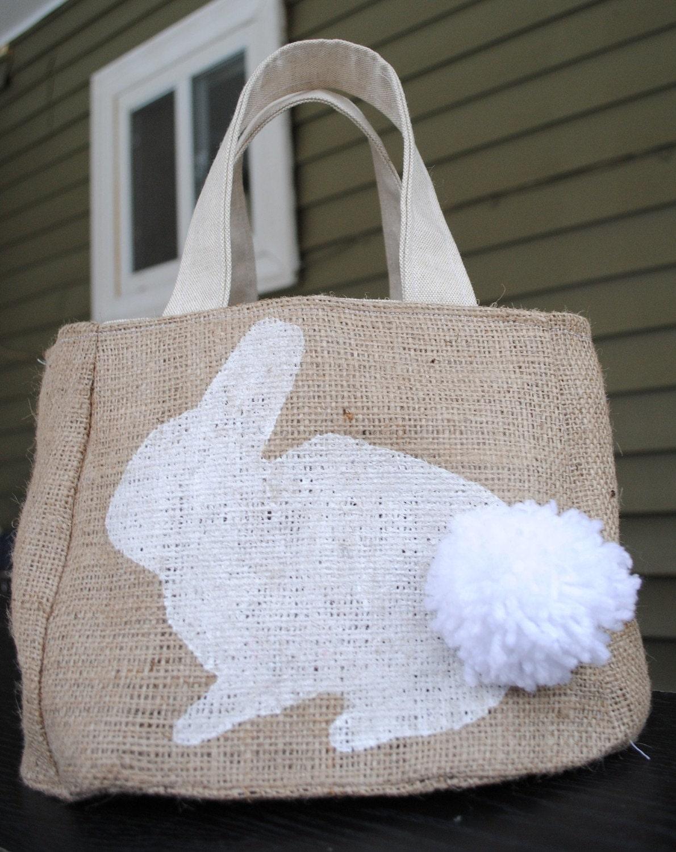 White Bunny Easter Bag