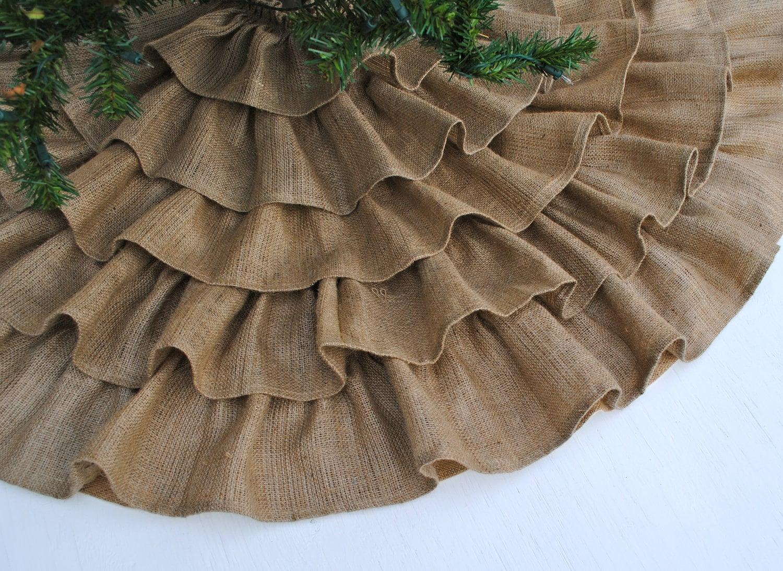 Ruffled burlap tree skirt