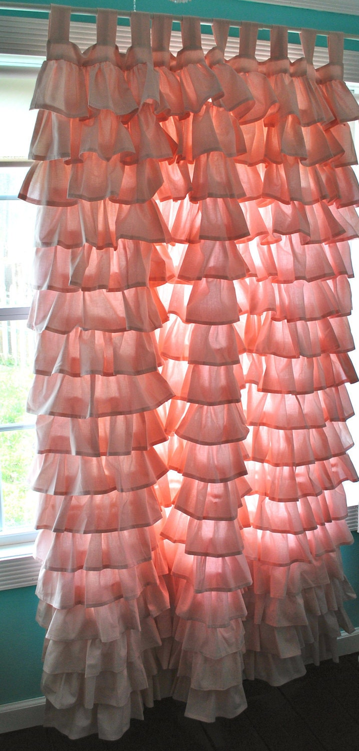 Light pink ruffled curtains - Like This Item