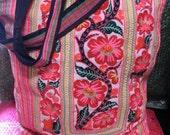 Vintage Chinese Market Tote Bag