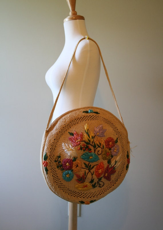 Vintage 1980s Hippy Strew Round handbags