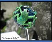 Perlenwerk Jasmin Eder Frog on Galaxy SRA Lampwork