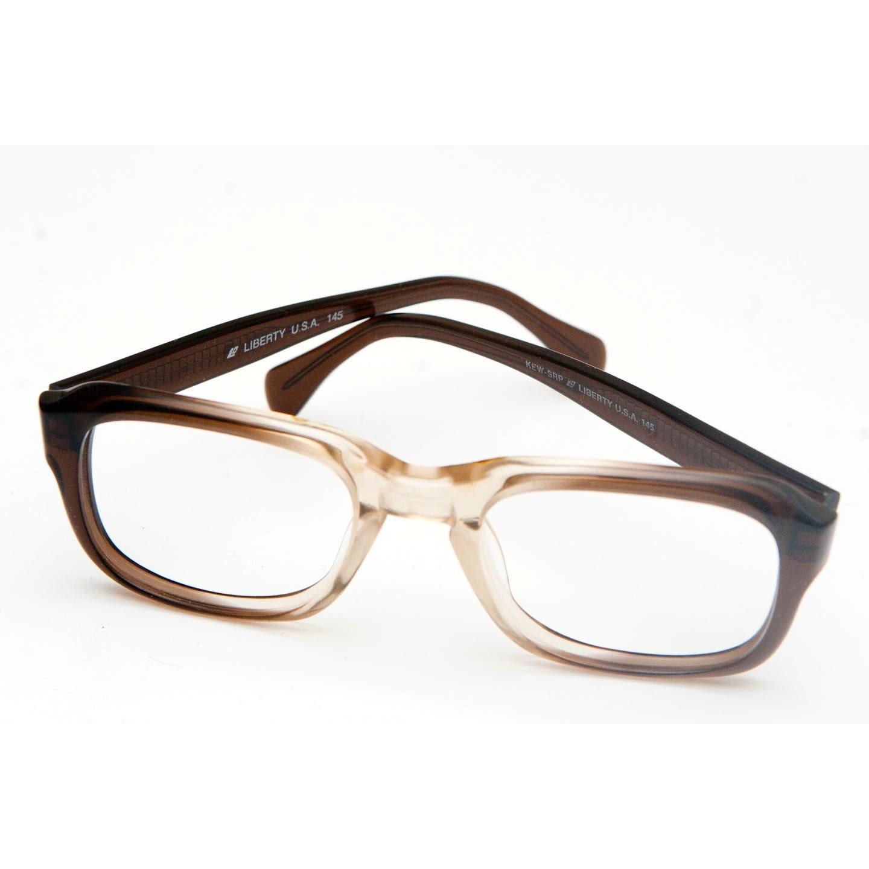 liberty eyeglasses frame brown two tone