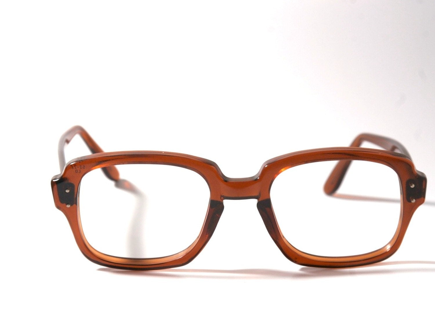 Eyeglass Frames For Military : Brown USS GI Eyeglasses Frames 50-20 Large Army issue