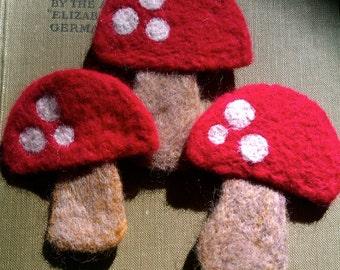 Fairy Toadstool Brooch