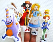 Alice in Wonderland   Set of 5 Finger Puppets