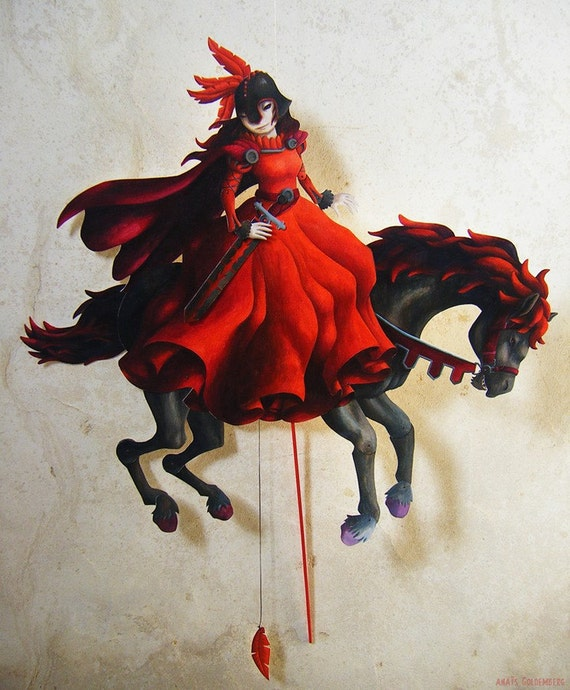 The Red Rider Paper Puppet