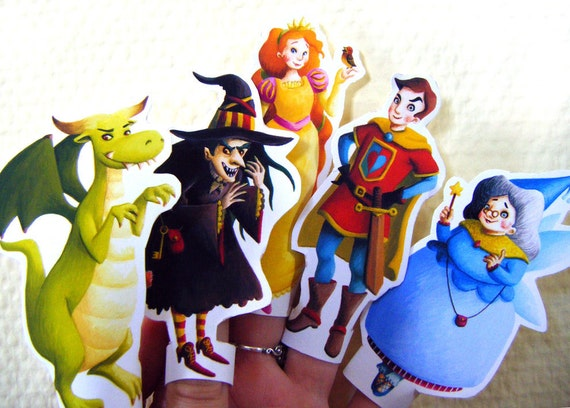 Fairy Tale Set of 5 Finger Puppets
