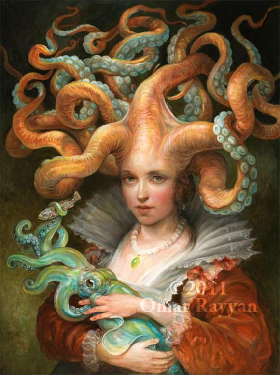 Contessa with Squid (print)