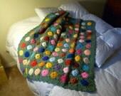 Hand Crocheted Throw Afghan Lap Blanket