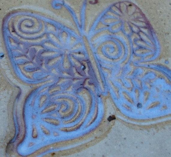 SALE Misty Butterfly Ceramic Base for Pine Needle Basket