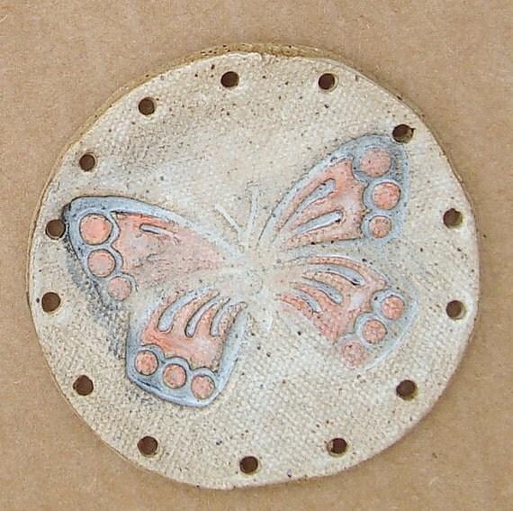 Misty Butterfly Ceramic Base for Pine Needle Basket