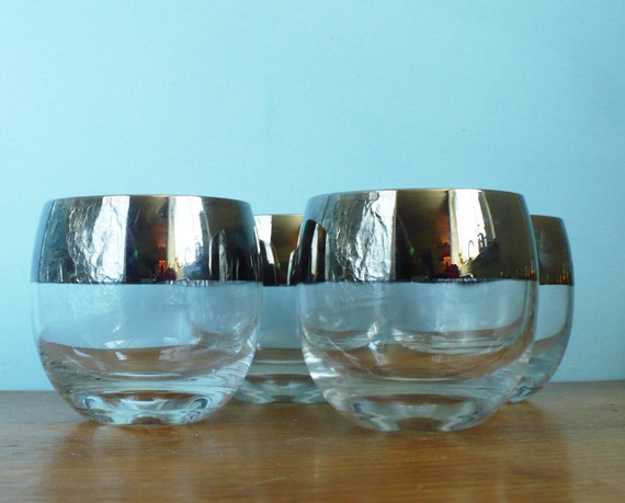 Roly Poly Dorothy Thorpe Style Glasses Wide Silver Band ala Don Draper
