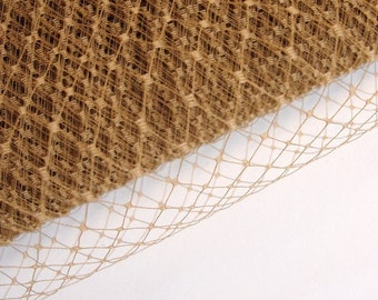 French Netting / Golden Caramel / 9 inches wide / 1 yard
