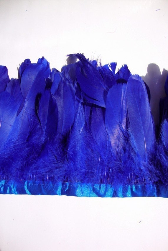 25 Royal Blue XL Goose Feathers No:022