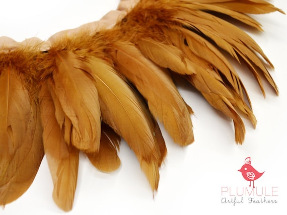25-30 pcs - VOGUE GOOSE NAGOIRE feathers, Toffee, studio dyed, spectacular quality : 309