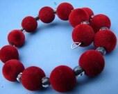 Soft red\/black bracelet