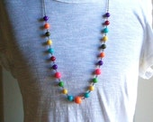 Gumball Necklace. Rainbow Necklace. Long Necklace. Photo Prop. Colorful Beaded Necklace. Statement Necklace