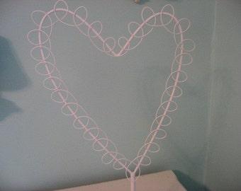 white metal wire heart note/picture holder organizer VALENTINE DECOR