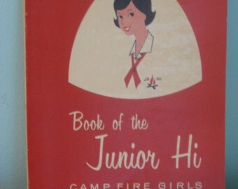 vintage junior hi camp fire girls scout book