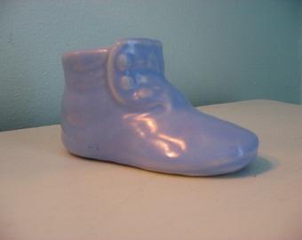 sweet blue baby bootie