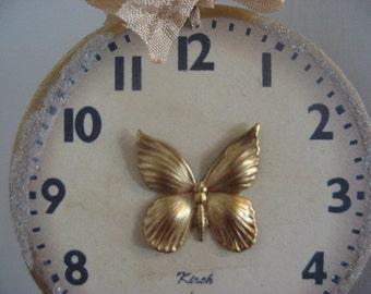 vintage style clock ornament home decor adornment