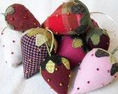 Beaded Berries KIT - Wool Strawberry - Three Sheep Studio
